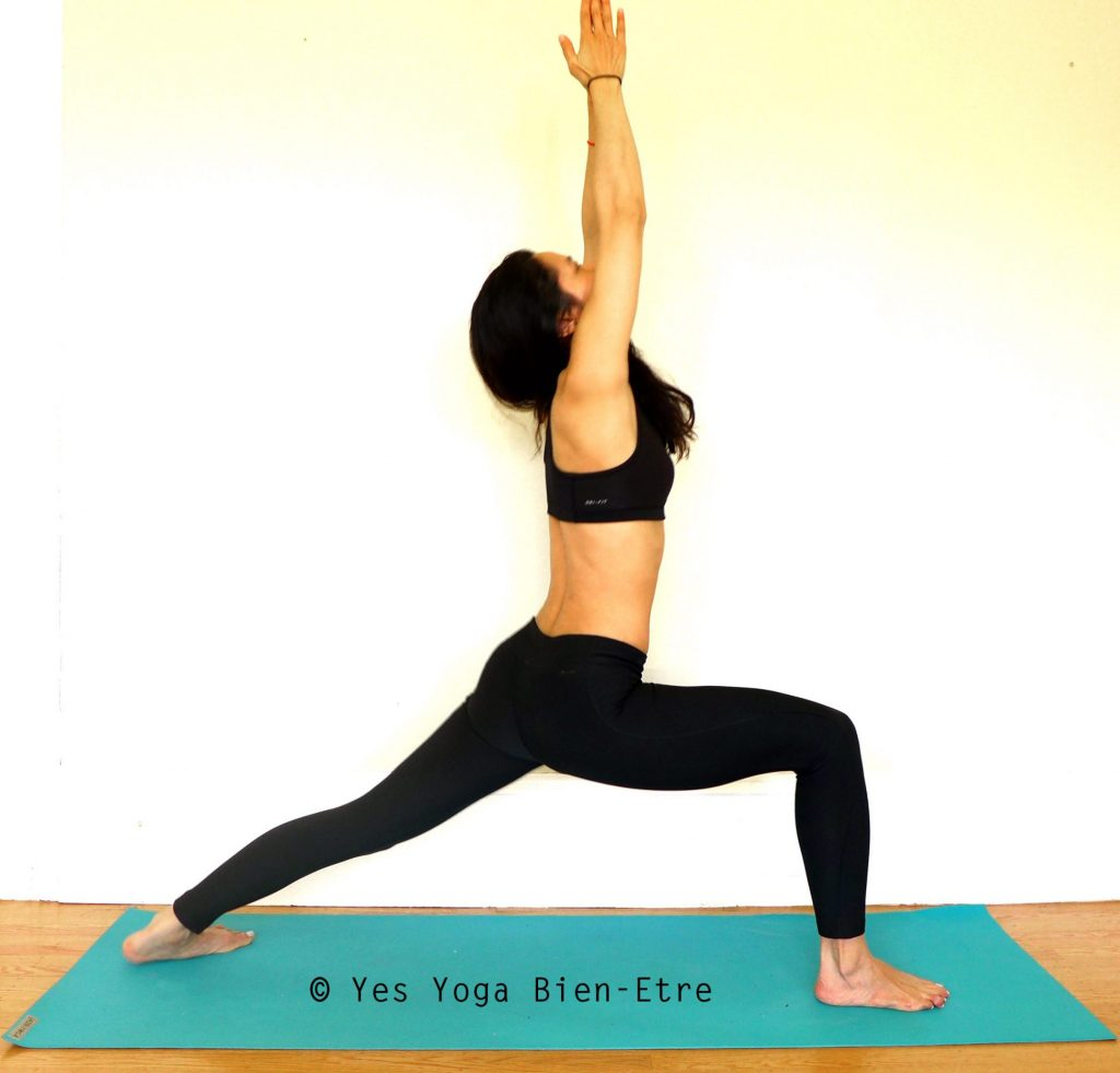 Virabhadrasana 1 Posture Guerrier 1 Yes Yoga Bien-Etre