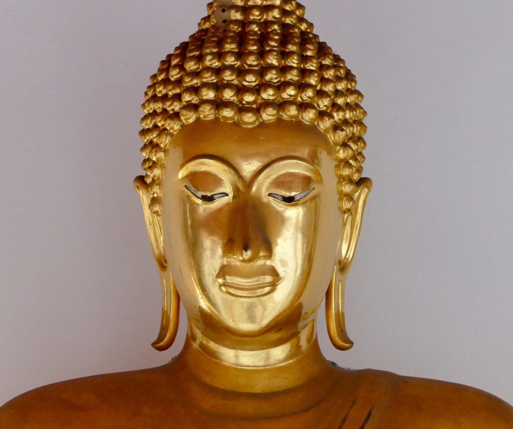boudhha doré méditation dristi du bout du nez