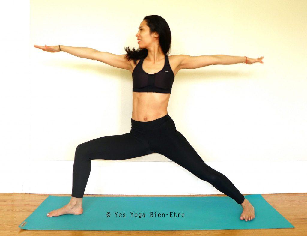 La Posture du Guerrier 2 Yoga Virabhadrasana 2