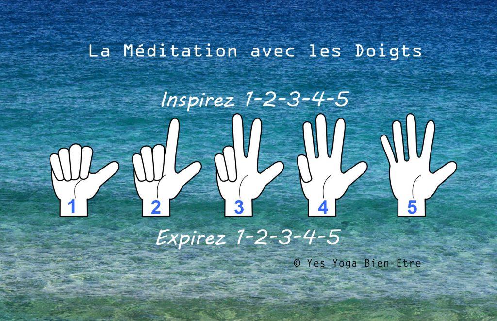Meditation pour enfant avec les doigts