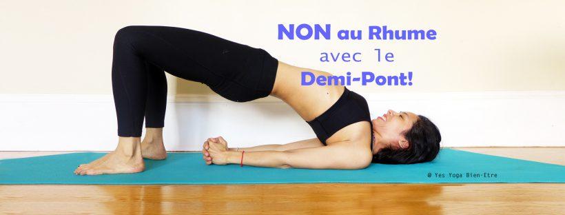 yoga pour immunite hiver posture demi pont setu bandha sarvangasana