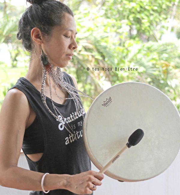 soin chamanique au tambour