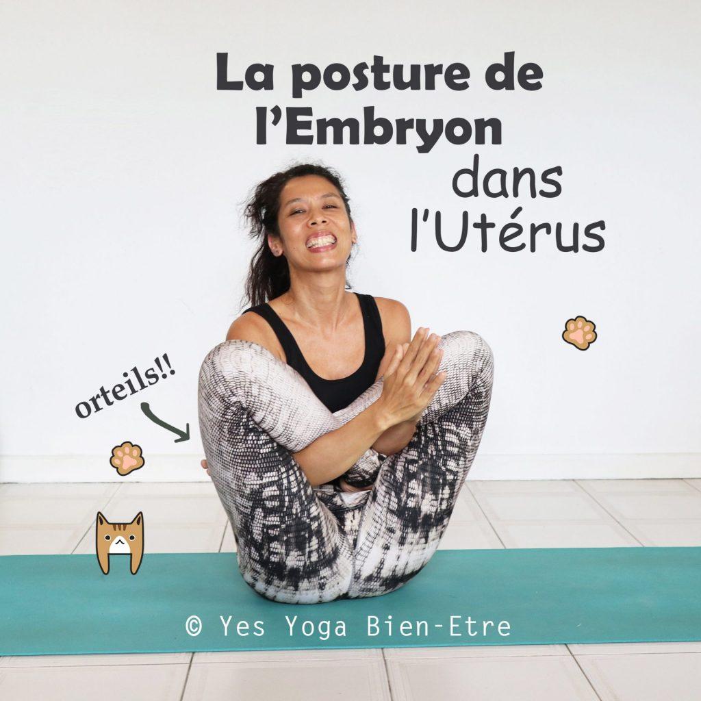 Yoga garbha pindasana la posture de l'embryon dans l'utérus
