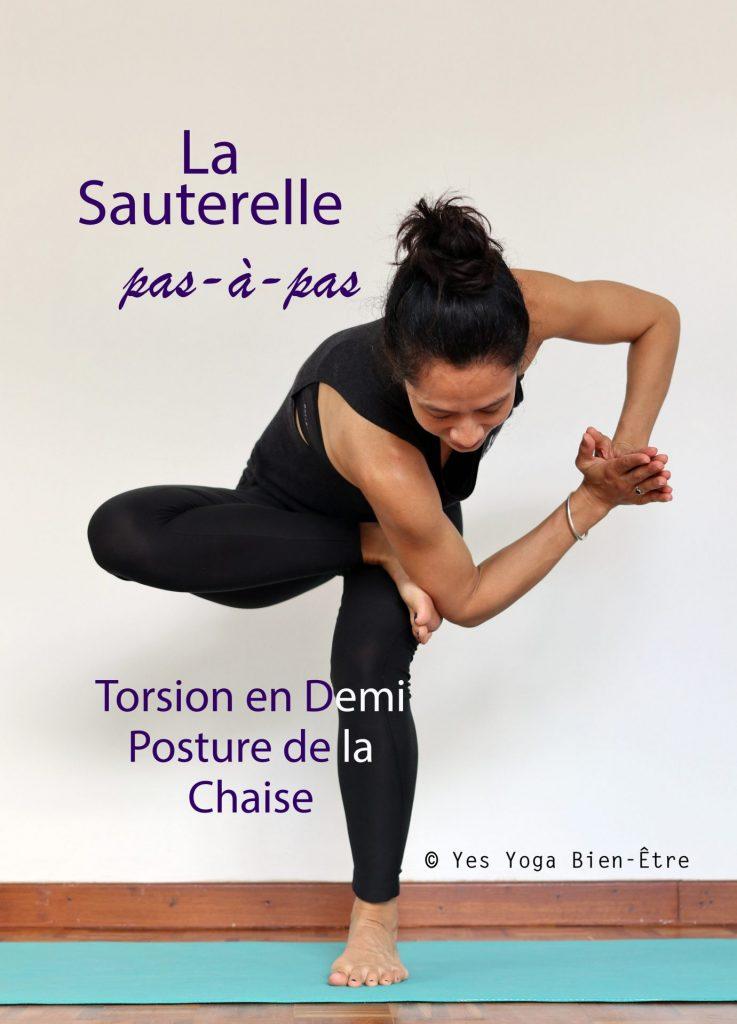 Demi Posture de la Chaise en Torsion - Yes Yoga Bien-Être